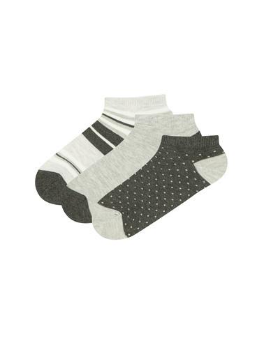Penti 3'lü Çorap Gri